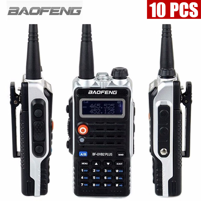 10PCS  Baofeng Walkie Talkie BF-UVB2PLUS VHF/UHF Dual Band DCS Ham Two Way Transceiver