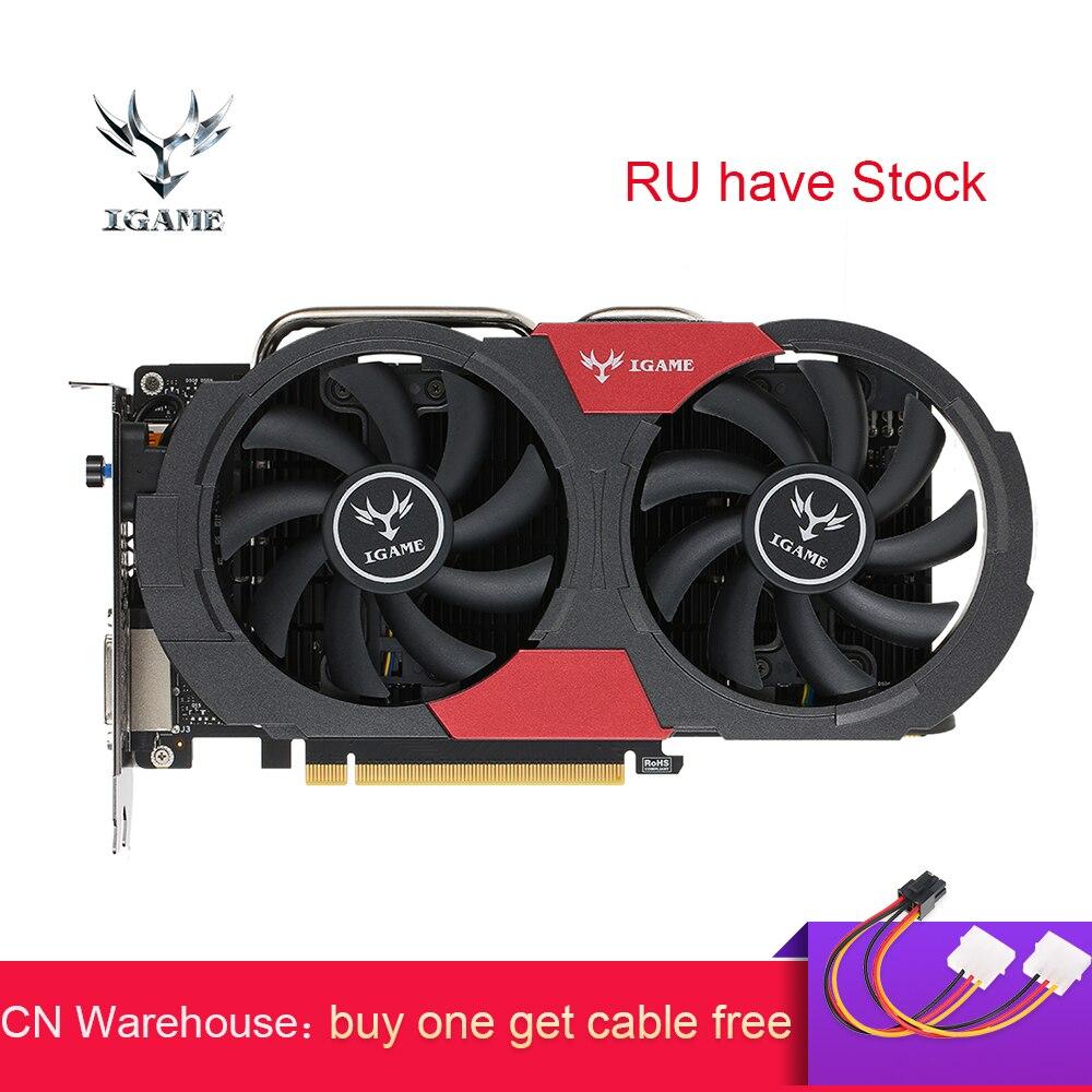 Colorido GTX 1050Ti tarjeta gráfica NVIDIA GeForce iGame GTX1050 Ti GPU 4 GB GDDR5 128bit PCI-E 3,0 juego de tarjeta de Video placa de vide