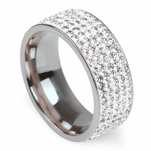 MIXMAX 5pc Wedding Stainless Steel Rings for Women Silver Engagement Shining Ring Men Trendy Jewelry Accessories Dropshipping