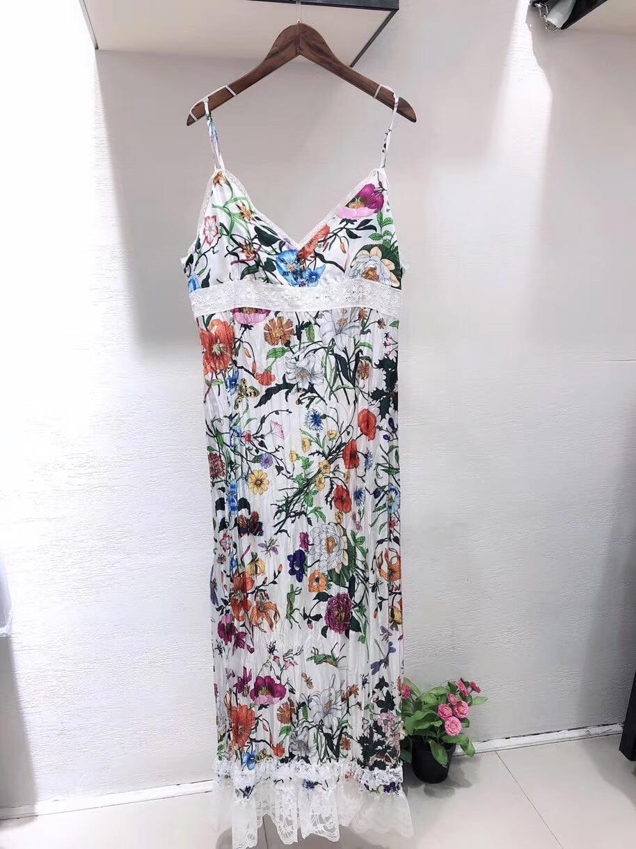 2019 femme sans manches robe débardeur imprimé
