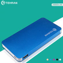 20000mAh Real Capacity Mobile Phone Battery for iphone 8 8 Plus Aluminum Alloy 5V2A 10W Output Fast Charge External Battery Pack