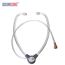 Hearing Aid Stethoscope Binaural Listening Tubing for Testing Hearing Aids with Acoustic Damper