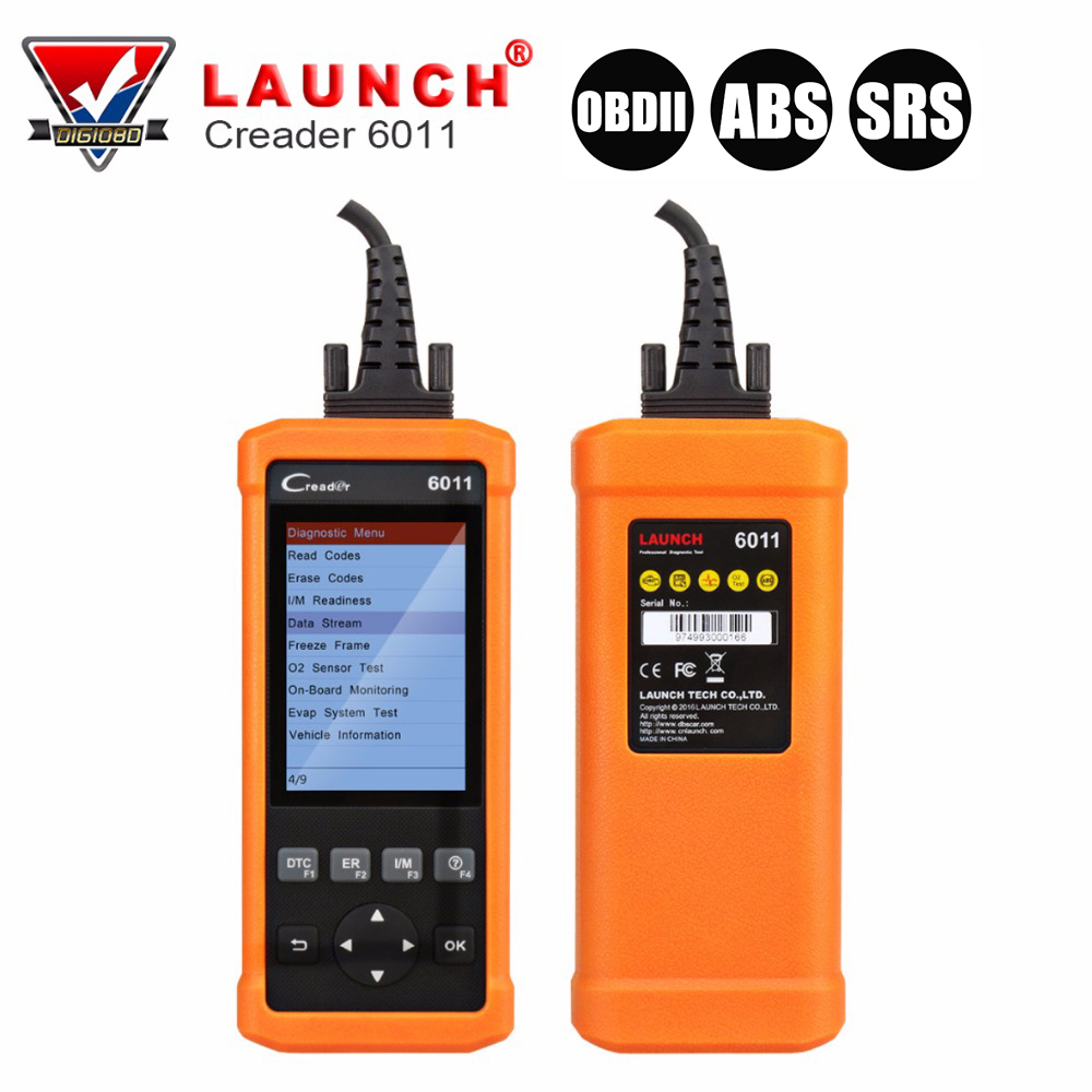 Launch CReader 6011 CR6011 OBD2 EOBD Scanner ABS SRS Diagnostic Tool Car Engine Fault Code Reader for OBDII Standard Vehicle 2016 new arrival vs 890 obd2 car scanner scantool obdii code reader tester diagnostic tools 3 inch lcd car detector