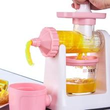 Lekoch Manual Fruit Juicer Home Hand Crusher Fruit Ice Cream Machine Juice Ice Cream Orange Apple Squeezers Reamers Gift for Mom