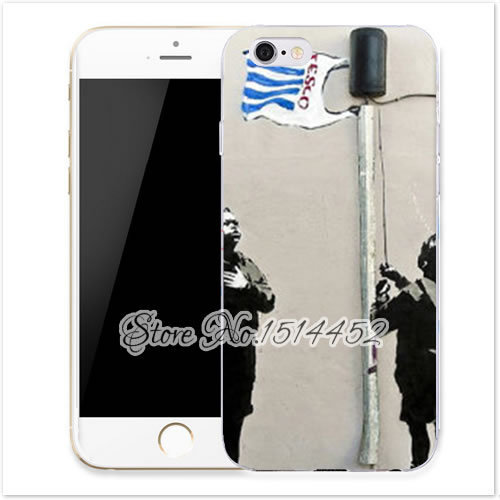 official photos 7c491 4bba3 US $3.38 |Banksy Tesco Flag hard plastic Mobile Phone Cases luxury cover  for IPHONE 4 4S 5 5S 5C 6 plus funny case with gift on Aliexpress.com | ...
