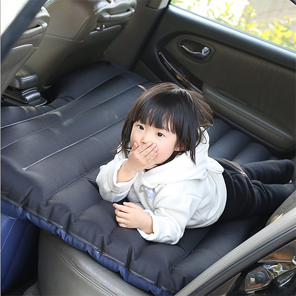 Car Inflatable Mattress Inflation Bed Travel Air Bed Camping Rest Sleep SUV Back Seat Shock Bed Extra Mattress with Pillow Auto durable thicken pvc car travel inflatable bed automotive air mattress camping mat with air pump