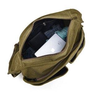 Image 5 - 2020 Fashion Teen Boys Shoulder Messenger Bag Canvas Lightweight Tote bag Large Capacity Travel Crossbody Bag Bolsa Sac A Main