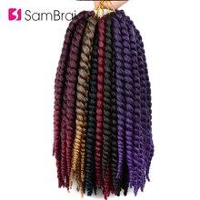 Sambraid Гавана mambo твист волосы крючком косички 14 дюймов Синтетические косички волосы для наращивания крючком косички волосы для женщин