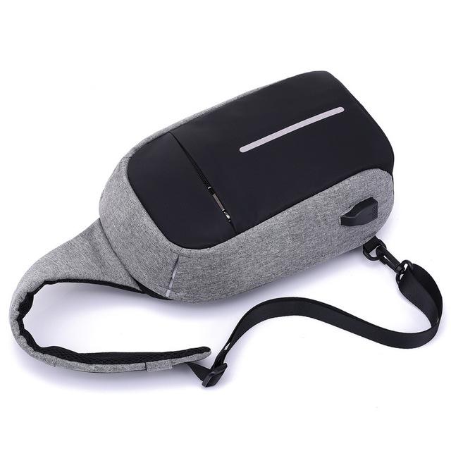 Men Bag with External USB Charger