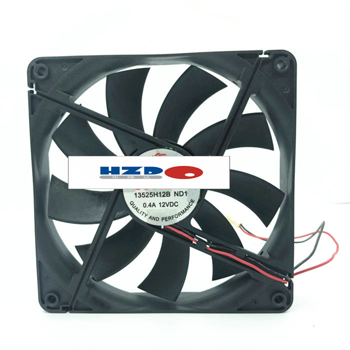 HZDO 135MM 1325 13525 135*135*25MM Chassis Fan 13525 Thin 13.5CM 12V 2pin PLA13525B12HH FT13525S12H DFB132512H 13525H12B