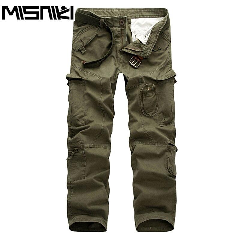 MISNIKI New Autumn Top Fashion Military Cotton Cargo Pants straight Casual Trousers Size 28-38 CYG248