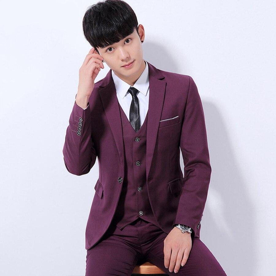 Men Suit Blazer New Brand Korean Fashion Formal Blazer Suit Male ...