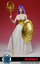 SUPER DUCK SET006 1/6 Scale Female Soldier Saint Seiya Athena Suit with Headsculpt Fit 12″ Action Figure Doll Toys