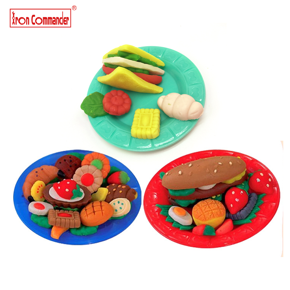 Iron Commander 5 colors Sandwich Color Clay Plasticine Playdough Toys Modeling Mould Play Dough Tools Mold Toys gift for kids 04