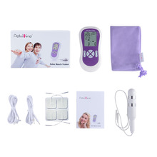 цена на Biofeedback pelvic muscle electrical trainer with 1pc anal + vaiginal probe + 2pairs pads incontinence therapy for men & women
