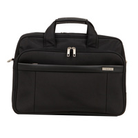 Unisex Briefcase 12L Classic Waterproof Laptop Bags For Men Women Office Lady Business Travel Bag Large Capacity Black