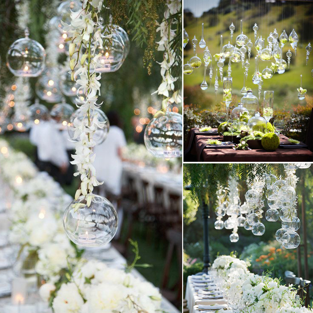 10pcs gorgeous hanging glass terrarium hang over flower vase 10pcs gorgeous hanging glass terrarium hang over flower vase bubbles hanging candle holders for wedding home decor candlestick in artificial dried flowers reviewsmspy