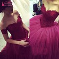 Fashion Sweetheart Tulle Top Lace Off the Should Evening Gowns New Corset Ball Gown Prom Dresses