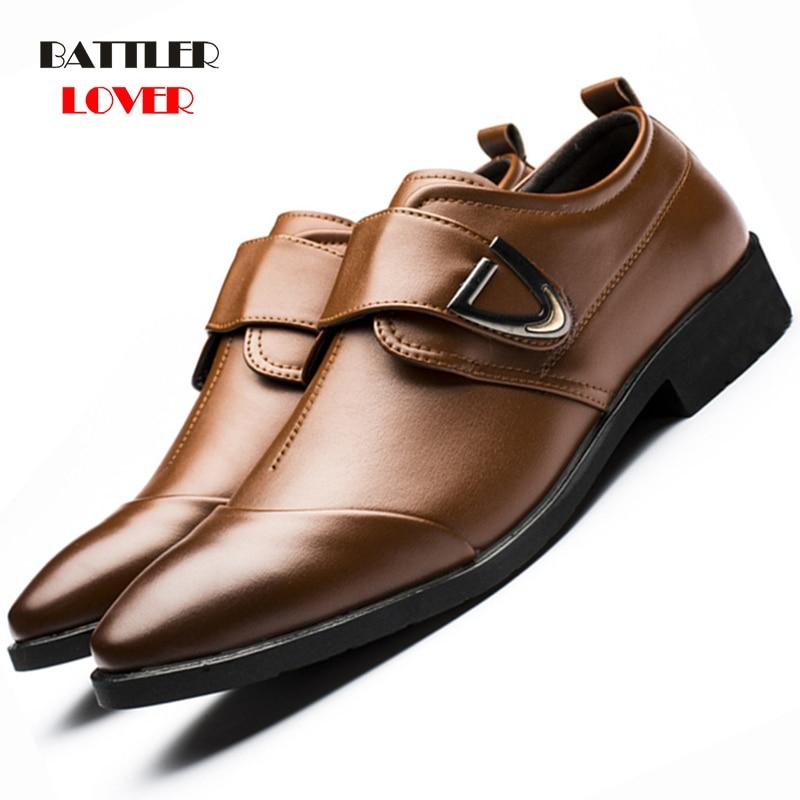 New Arrival Plus Size38- 48 Classical Men Business Dress Shoes Patent Leather Derby Shoes Men