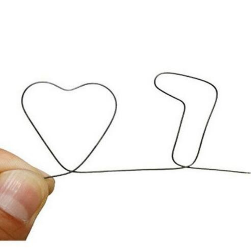 Free shipping Nitinol SHAPE Meta Memory l Wire Prediction 7 of Heart magic trick close u ...