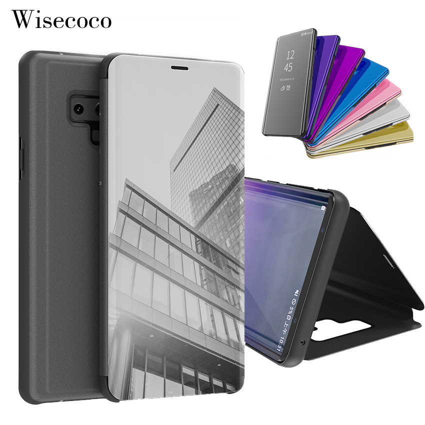 Flip Stand Touch Case For Samsung Galaxy S9 S8 S7 S6 Edge Plus Luxury Mirror Smart Cover For Galaxy Note 9 8 5 4 3 C10 C8 Fundas