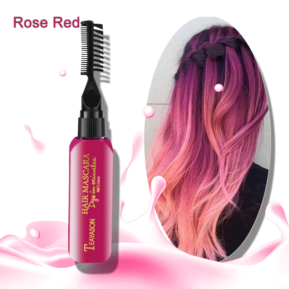 Brand DIY New Hair Dye Color Not Hurt Hair Easy To Clean Non-toxic One-time Temporary Mascara Hair Cream 13 Colors for Choice image
