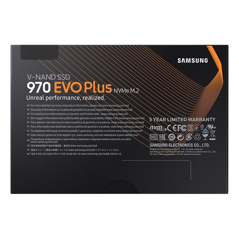 Samsung SSD 970 EVO Plus 250 GB 500 GB 1 TB NVMe M.2 2280 SSD M.2 Interne Solid State Drive SSD Disque PCIe 3.0x4, NVMe 1.3 ordinateur portable - 5