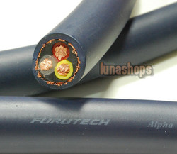 LN004008 For 1m Bulk Hifi Furutech FP-3TS762 OCC Power DIY Cable for speaker Amp
