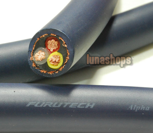 LN004008 pour 1 m en vrac Hifi Furutech FP-3TS762 OCC puissance bricolage câble pour ampli haut-parleur