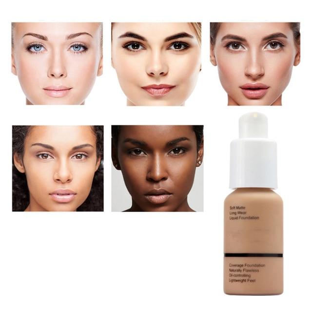 Profesional de larga duración Brighten piel oscura mate corrector Fundación crema hidratante corrector brillo profesional