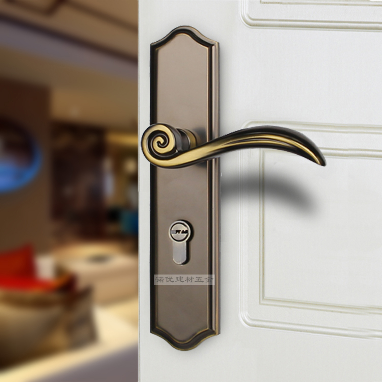 American indoor room door handle lock double tongue locks - Door handles with locks for bedrooms ...