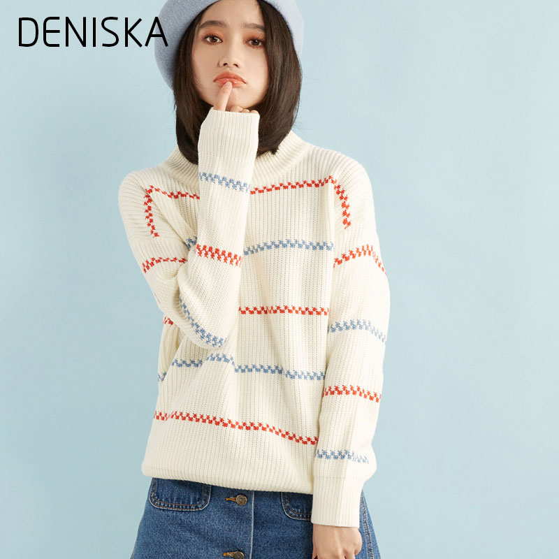 DENISKA Spring Autumn Loose Women Sweater Fashion All