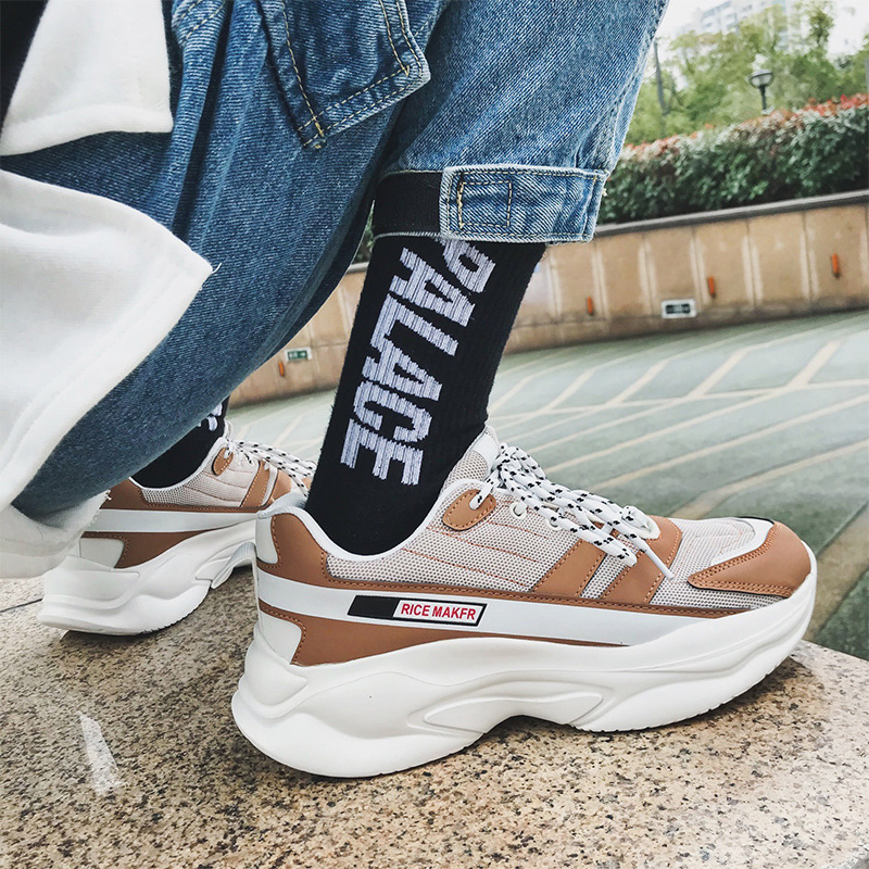 Designer Hip Hop chunky Sneakers Casual Shoes Men Tenis Sapato Masculino Heren Schoenen High Top Sneakers Basket Man Shoes in Men 39 s Casual Shoes from Shoes