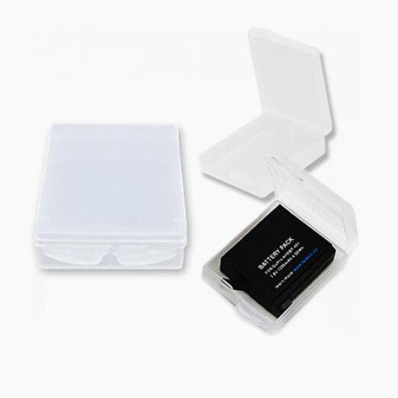 2pcs Hard Case Storage Box Protective Cover for Xiaomi Yi Gopro Hero 5/4/3 Hero5 SJCAM SJ4000/SJ5000 Camera Rechargeable Battery new gopro accessories shockproof waterproof collection double box hard bag tools storage hero 4 3 3 2 1 sj4000 sj5000 sj6000