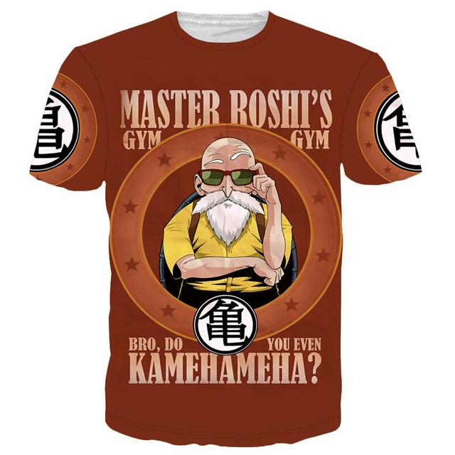 Dragon Ball Z Super Saiyan 3D Print Vegeta Wanted Casual Men's T-shirt