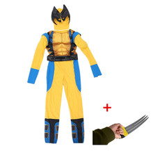 Kids Fantasy X-man Logan Origin Marvel Superhero Halloween C