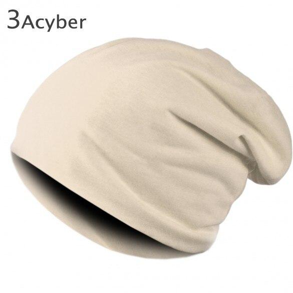 Winter Hat for Men Women Solid Color Hats Elastic Hip Hop Cap Skullies Kintting Beanie Hat
