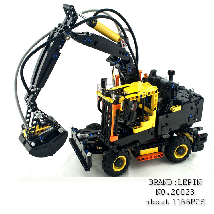 все цены на Lepin 20023 1166Pcs Technical Ultimate Series The Ew160e excavator set Educational Building Blocks Bricks Toys Funny Model 42053