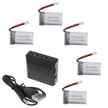 Lipo charger USB Battery adapter 3.7V 5 in 1  USB Interface for SYMA X5C UFO drone quadcopter NEW