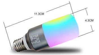 스마트 와이파이 촛불 전구 램프 e27 와이파이 led 촛불 전구 rgbw 전구 AC85-265V 디 밍이 가능한 지원 alexa/google 홈/ifttt (2 pcs)