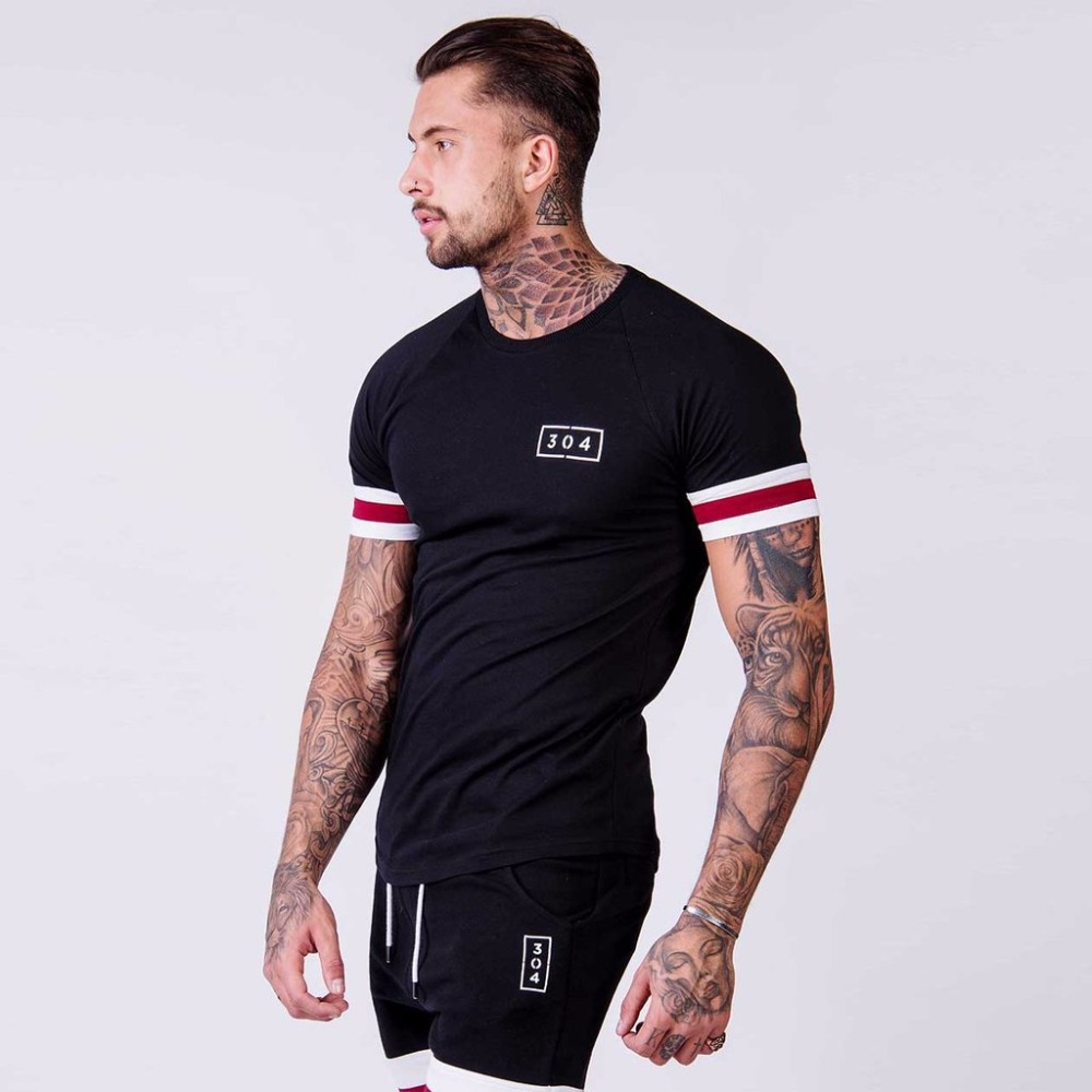 Hot Sales 2018 New Brand clothing Gyms Tight   t  -  shirt   mens fitness   t  -  shirt   homme Gyms   t     shirt   men fitness Summer top