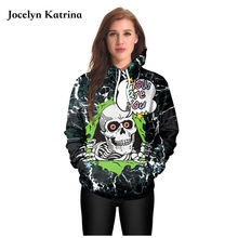Halloween Skull Hoody Punk Hoodies Skeleton Skateboarding Sweatshirts Autumn Outerwear Sweaters Women's Pullovers Loose