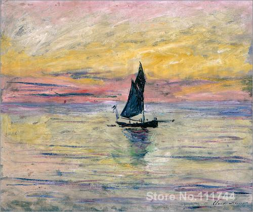 Seascape art The Sailing Boat Evening Effect by Claude Monet paintings Home Decor Hand painted High qualitySeascape art The Sailing Boat Evening Effect by Claude Monet paintings Home Decor Hand painted High quality