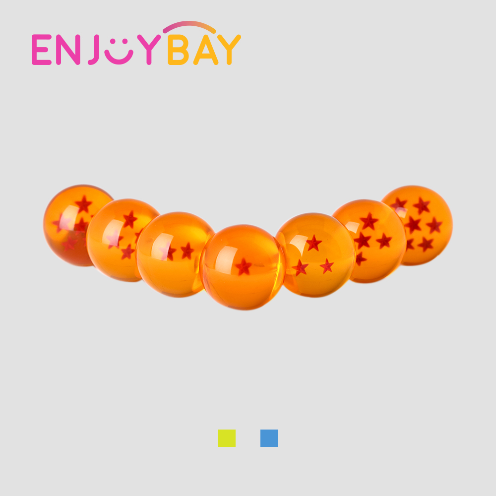 Enjoybay 7Pcs/set Crystal Dragon Ball Toy 3.5cm 7 Stars Crystal Balls Action Figure Toys Resin Dragon Beads for Kids Gifts Hot brand new 3 5cm dragon ball z new in box 7 stars crystal balls set of 7 pcs complete set for children new year christmas gift