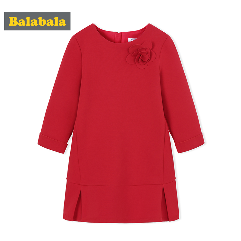 Balabala new spring dress for 2018 girl clothes kids dresses girls fashion wear child sweet girls Princess Dress children kids dresses for girls girl dress free shipping2010 fashion dance dress performance wear leotard 085 hair accessory oversleeps