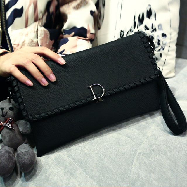 2016 women's handbag fashionable casual litchi knitted day clutch envelope bag messenger bag female shoulder bag