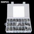 NOVA 500 PCS Kit com Caixa Variedade De Capacitores Eletrolíticos 0.1 UF-1000 UF 24 Valores 16 V-50 V Alumínio Fornecimento de Componentes Passivos