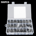 NUOVO 500 PCS Condensatori Elettrolitici Kit con Assortimento Box 0.1 UF-1000 UF 24 Valori 16 V-50 V In Alluminio Componenti Passivi di Alimentazione
