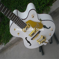 2017 Factory Custom White Gretsch Falcon 6120 Semi Hollow Body Jazz Electric Guitar With Bigsby Tremolo
