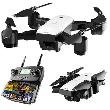SMRC S20 Foldable 6-axis FPV Drone RC Quadcopter With GPS 360 Flips Wide Angle Camera 1080P Altitude